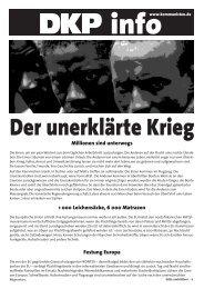 Der unerklärte Krieg - DKP