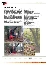 TP 270 PTO K - Woodchippers