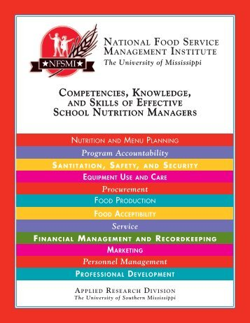 entRy-level - National Food Service Management Institute
