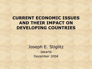 current economic issues and their impact on developing countries