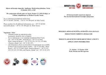 organizacioni odbor.pdf - PMF - Univerzitet u Tuzli