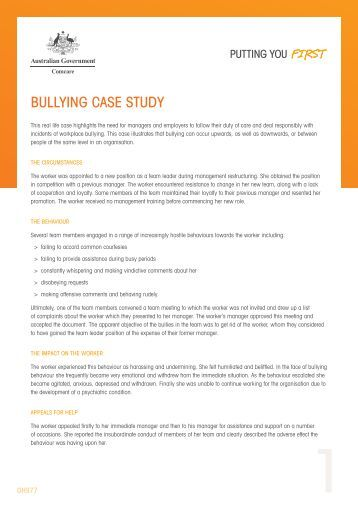 case study about bullying pdf