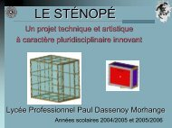 Diaporama de présentation du projet - Académie de Nancy-Metz