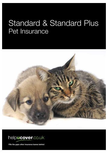 P3027_Standard Insurance Cats & Dogs - GP02507 ... - helpucover