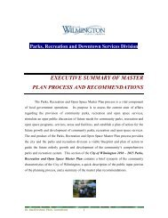 PARKS AND RECREATION MASTER PLAN - City of Wilmington