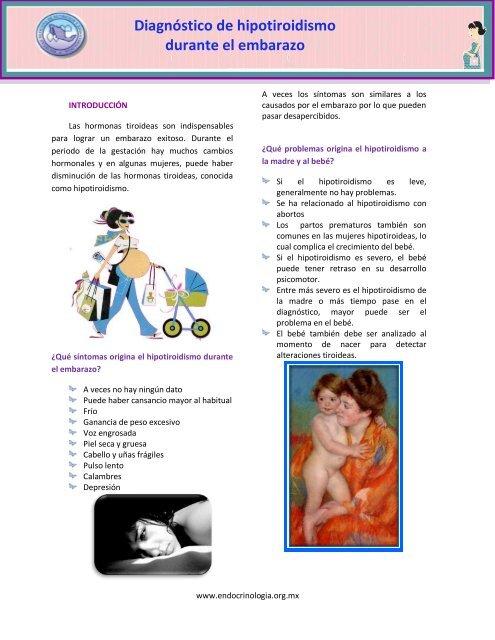 Sintomas de tiroides en mujeres embarazadas
