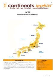 Japon - Continents Insolites