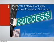 Practical Strategies for Highly Successful Prevention - t:www.paxtalk ...