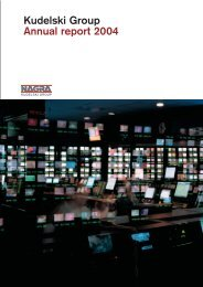 Kudelski Group Annual report 2004
