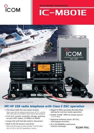 MF/HF SSB radio telephone with Class E DSC ... - Icom Australia