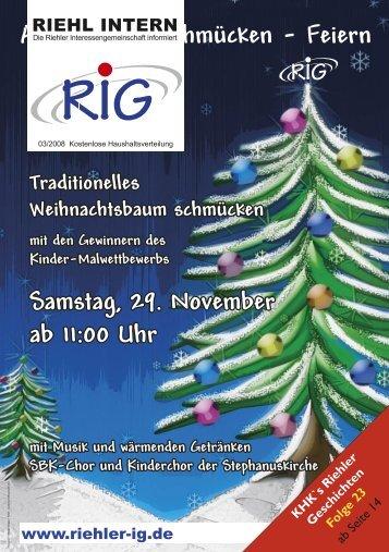 Riehl Intern 3-2008 - Riehler Interessengemeinschaft eV