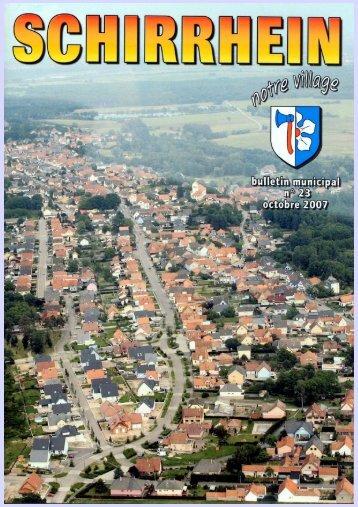 Bulletin municipal version informatique - n°23 Octobre ... - Schirrhein