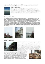 «San Francisco is waiting for you…» 2010 – Reisejournal von ...