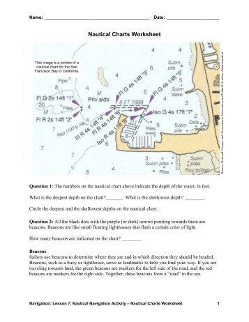 Nautical Charts Worksheet - Teach Engineering