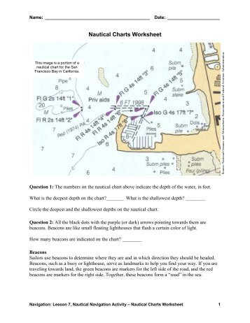 Nautical Charts Worksheet - Teach Engineering