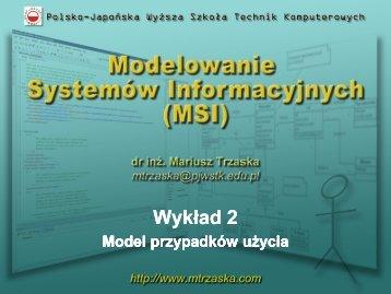 Model przypadków użycia - pjwstk