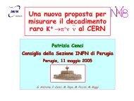 Una nuova proposta per misurare il decadimento raro K+ in ... - INFN