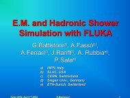 E.M. and Hadronic Shower Simulation with FLUKA - INFN