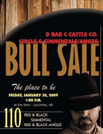 D Bar C / Circle G Simmental Angus & Bull Sale - Transcon ...