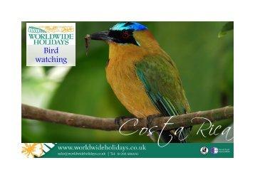 Bird Watching Itinerary Idea - Worldwide Holidays