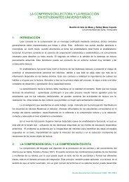 """LA COMPRENSIÃ""""N LECTORA Y LA REDACCIÃ""""N EN ESTUDIANTES"""