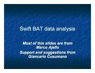 Swift BAT data analysis - GLAST Gamma-Ray Large Area Space ...