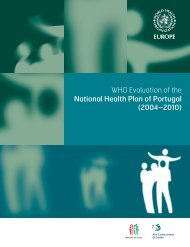 WHO Evaluation of the National Health Plan of Portugal