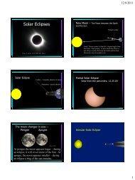Solar and Lunar Eclipses - Greensboro Day School