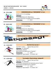 Winterprogramm in Furx Zwergberg
