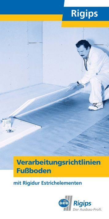 Estrichelemente magazine - Fuayboden fliesen ...