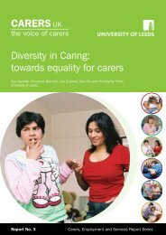 Diversity in Caring: Towards Equality for Carers – PDF version 598Kb