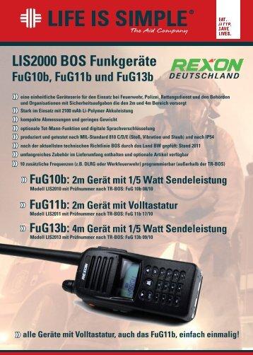 Datenblatt LIS2000-BOS-Funkgeräte - REXON