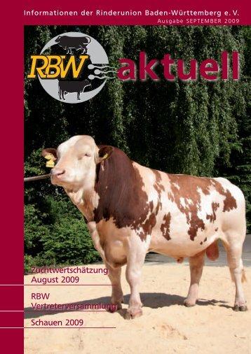 RBW-Aktuell - September 2009 - Rinderunion Baden-Württemberg ...
