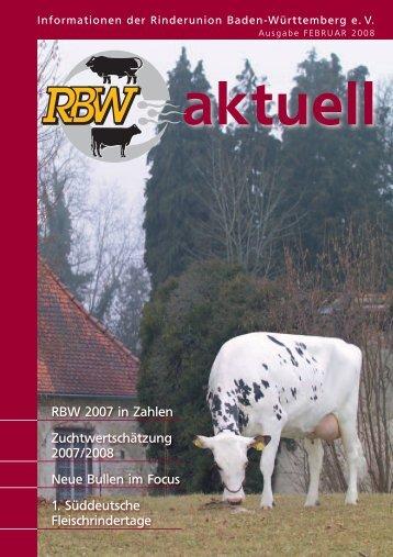 RBW-Aktuell März 2008 - Rinderunion Baden-Württemberg e.V.