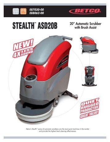 """STEALTH™ ASD20B 20"""" Automatic Scrubber ... - Betco Corporation"""