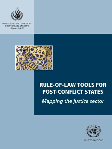 RULE-OF-LAW TOOLS FOR POST-CONFLICT STATES Mapping