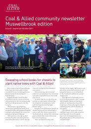 Coal & Allied Community Newsletter Muswellbrook edition October