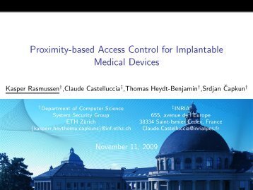 Proximity-based Access Control for Implantable Medical Devices