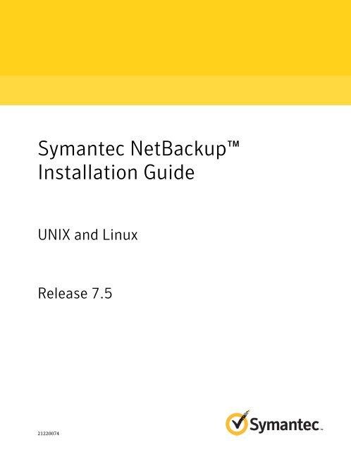 netbackup 7.5 admin guide