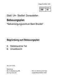 Begründung zum Bebauungsplan - Ulm