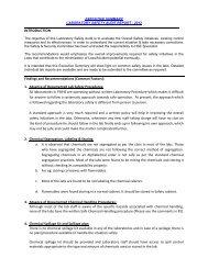 Lab Safety Audit Report & progress