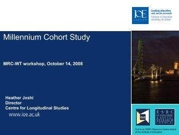 Millennium Cohort Study - Economic and Social Research Council