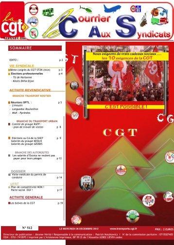 C G T G T C G T C G T T - Fédération CGT des transports - La cgt