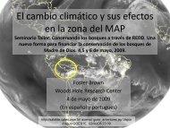 El cambio climático y sus efectos en la zona del MAP Seminario ...