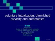 voluntary intoxication, diminished capacity and automatism
