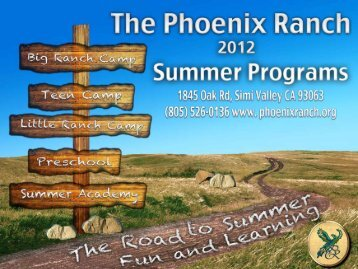 to download the Summer Program Brochure - Phoenix Ranch School