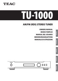 AM/FM (RDS) STEREO TUNER - TEAC