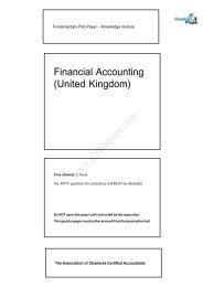 ATSWA Study Pack - Basic Accounting Processes & Systems