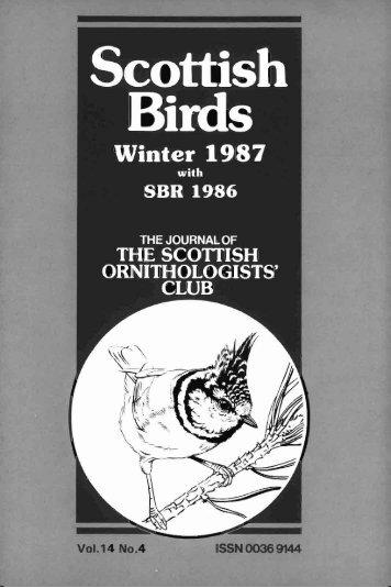 V 14 No.4 - The Scottish Ornithologists' Club