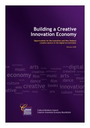 Building a Creative Innovation Economy - Cultural Ministers Council